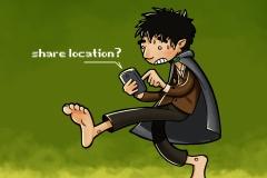Frodo comparte localización