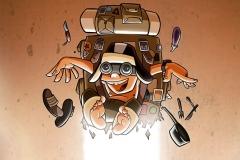 Ilustración jetpack