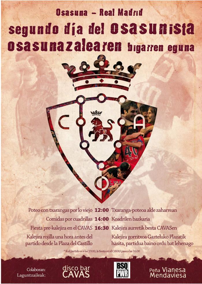 Cartel para Osasuna | Día del osasunista