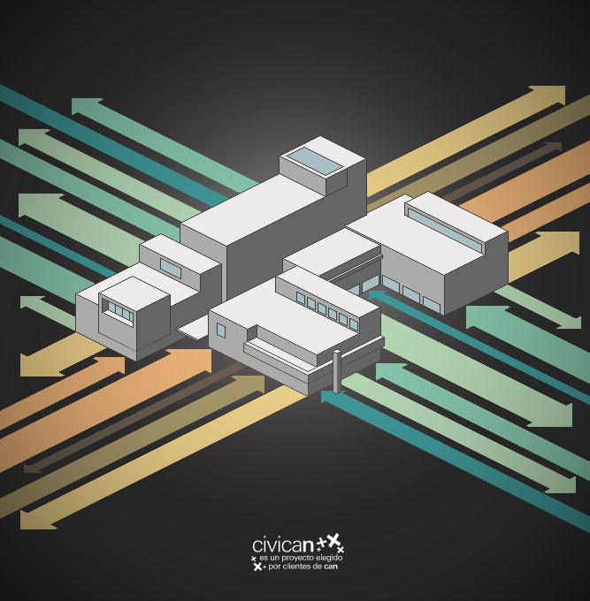 Cartel para concurso Civican (Pamplona) | Pixel art