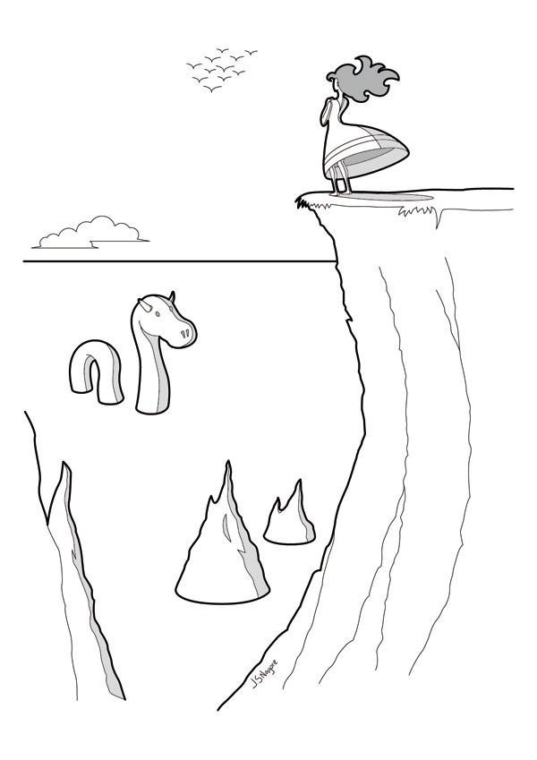 Ilustración para el juego de rol PentagoN | Lago Ness