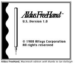 Aldus Freehand