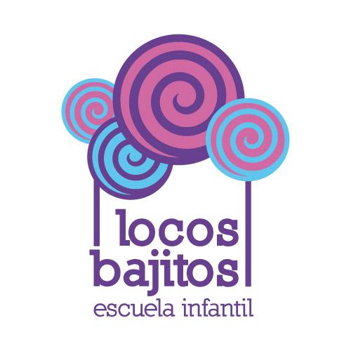 Logo escuela infantil Locos Bajitos (Alcorcón)