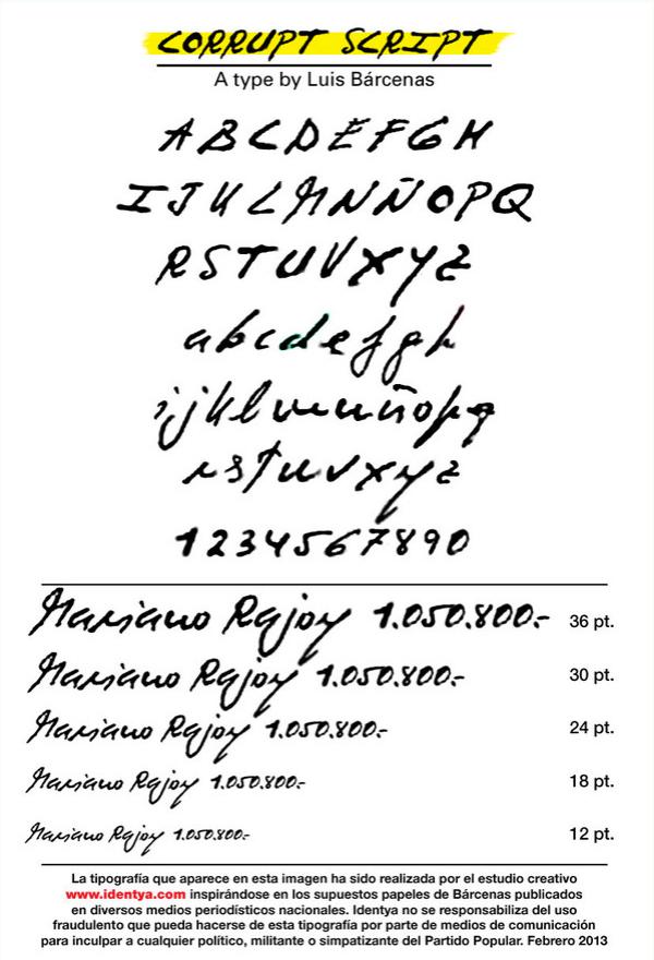 Corrupt Script Bárcenas