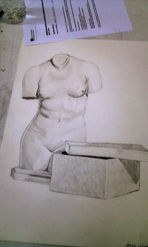 Venus a lápiz