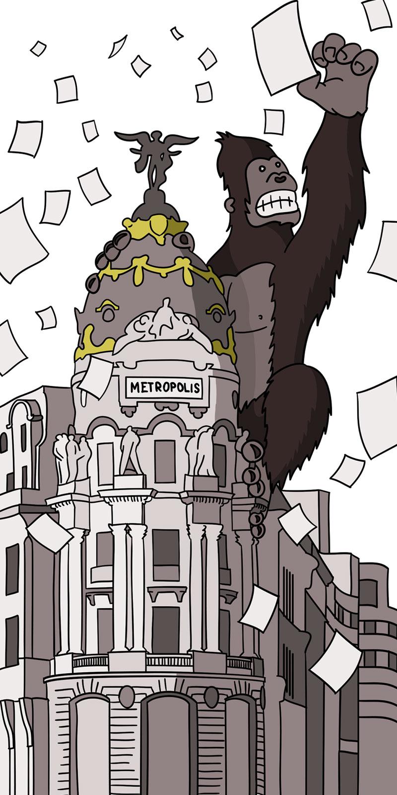 Ilustración para cartel para la Sociedad Técnica de Tramitación, Madrid