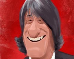 Caricatura Enrique Martín Monreal, entrenador de Osasuna