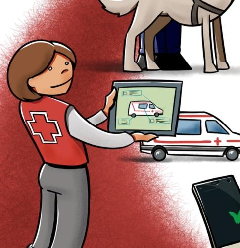 Folleto 'Orientatech' para Cruz Roja